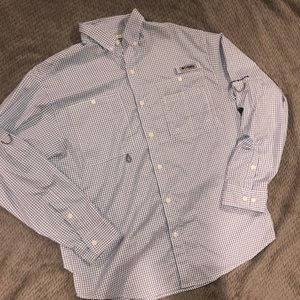 Columbia PFG Long Sleeve Button Down Shirt - M